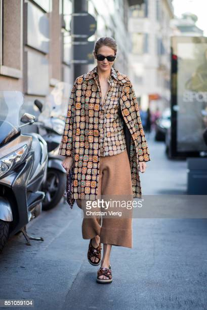 Martin is seen outside Max Mara during Milan Fashion Week Spring/Summer 2018 on September 21 2017 in Milan Italy