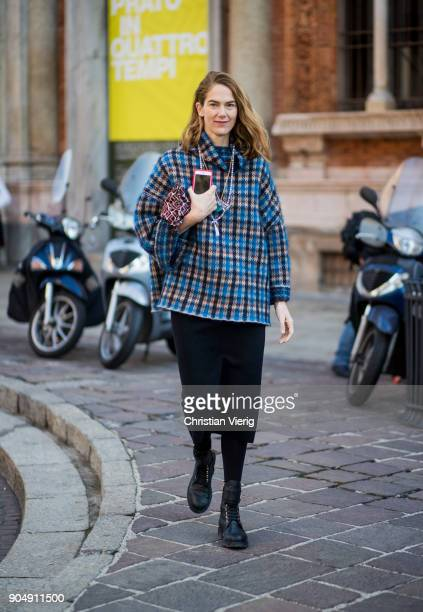 Martin is seen outside MSGM during Milan Men's Fashion Week Fall/Winter 2018/19 on January 14 2018 in Milan Italy