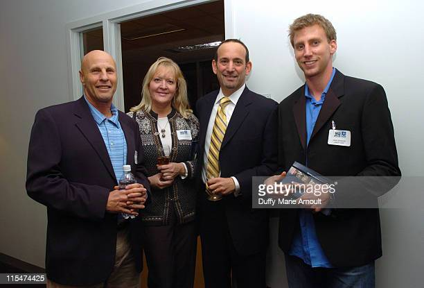 Martin Jacobson of Martin Luther King High School , guest, Don Garber, Commissioner of MLS and Adam Spangler of Vanity Fair