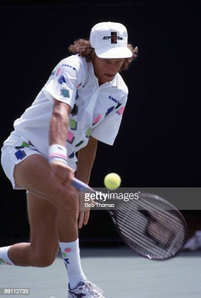 Martin Jaite of Argentina during the Lipton International Players Championships held in Miami Florida USA during March 1990