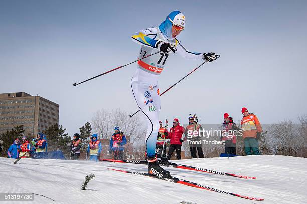 Martin Johansson of Sweden during Cross Country Men 17 km Sprint Free on March 01 2016 in Gatineau Quebec Canada