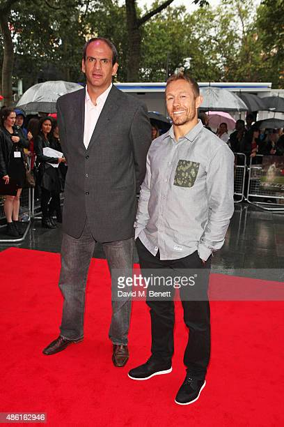 Martin Johnson and Jonny Wilkinson attend the World Premiere of 'Building Jerusalem' at the Empire Leicester Square on September 1 2015 in London...