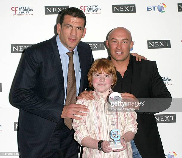 Martin Johnson and Phil Greening with Oliver Rothwell Winner of Junior Sports Over 11's Award