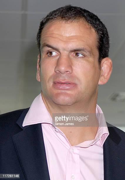 Martin Johnson during BGC Partners Fundraising Event Photocall September 11 2006 at Canary Wharf in London Great Britain