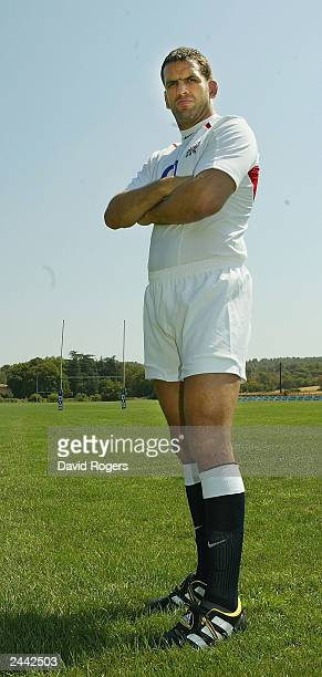 Martin Johnson the England captain pictured wearing the new England kit at the Domain de Tournon Hotel Aix en Provence France on August 27 2003