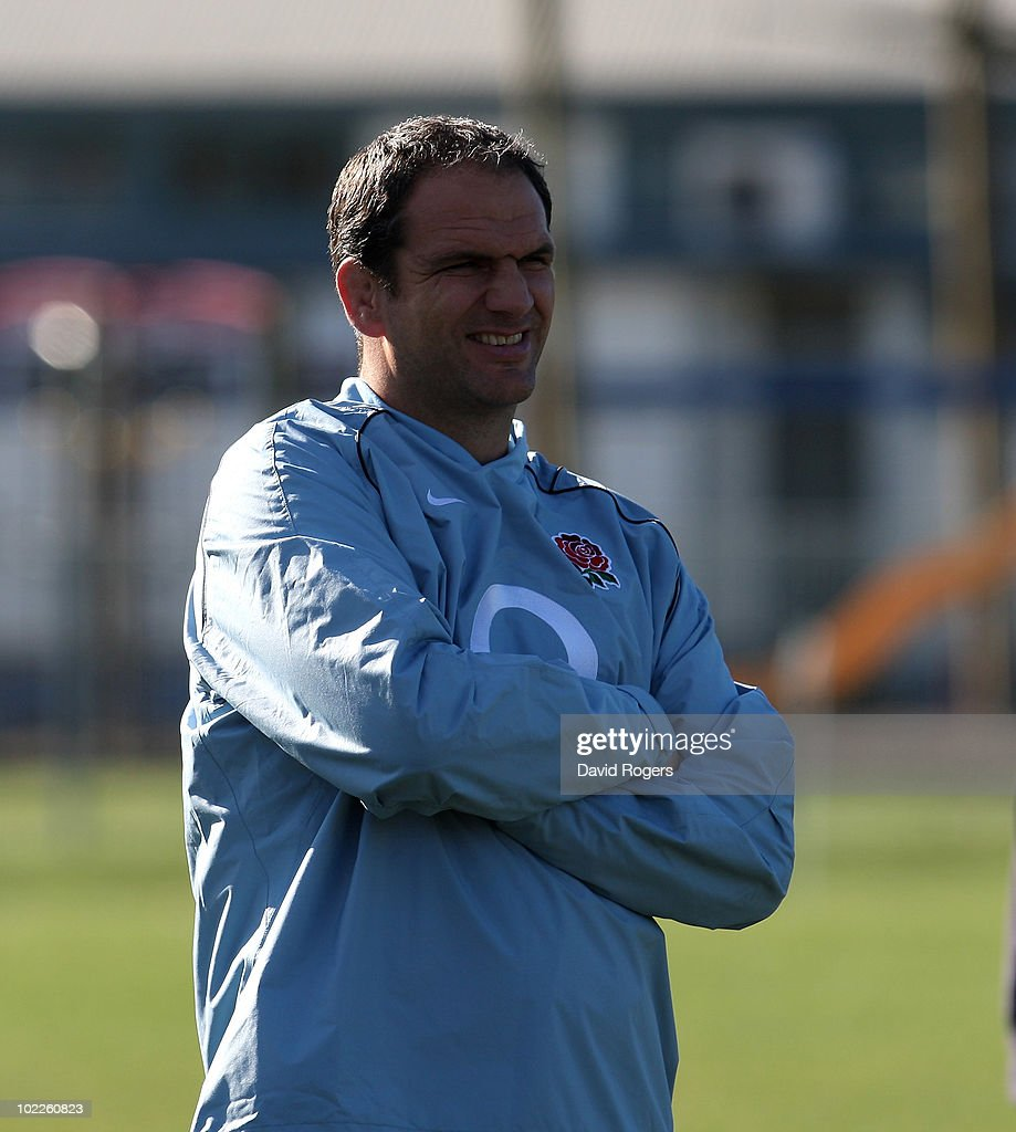 Martin Johnson, the England manager smiles during an England Training session at Napier Boys School on June 21, 2010 in Napier, New Zealand.
