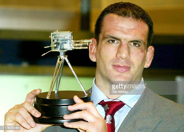 Martin Johnson with his runner up award during BBC 50th Sports Personality Of The Year Awards at BBC Television Centre in London Great Britain