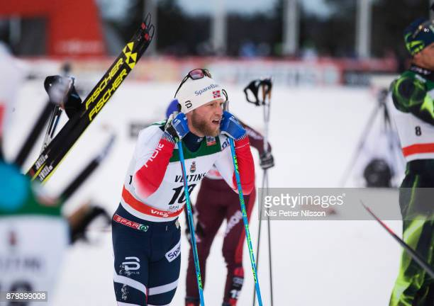 Martin Johnsrud Sundby Norge of Norway during the mens cross country 15K pursuit competition at FIS World Cup Ruka Nordic season opening at Ruka...