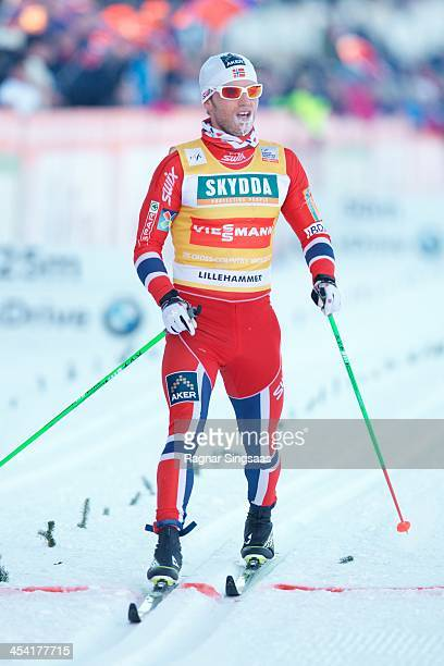 Martin Johnsrud Sundby of Norway competes during the FIS CrossCountry World Cup Men's 15km Classic on December 7 2013 in Lillehammer Norway