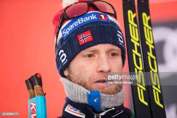 Martin Johnsrud Sundby of Norway during the mens cross country 15K pursuit competition at FIS World Cup Ruka Nordic season opening at Ruka Stadium on...