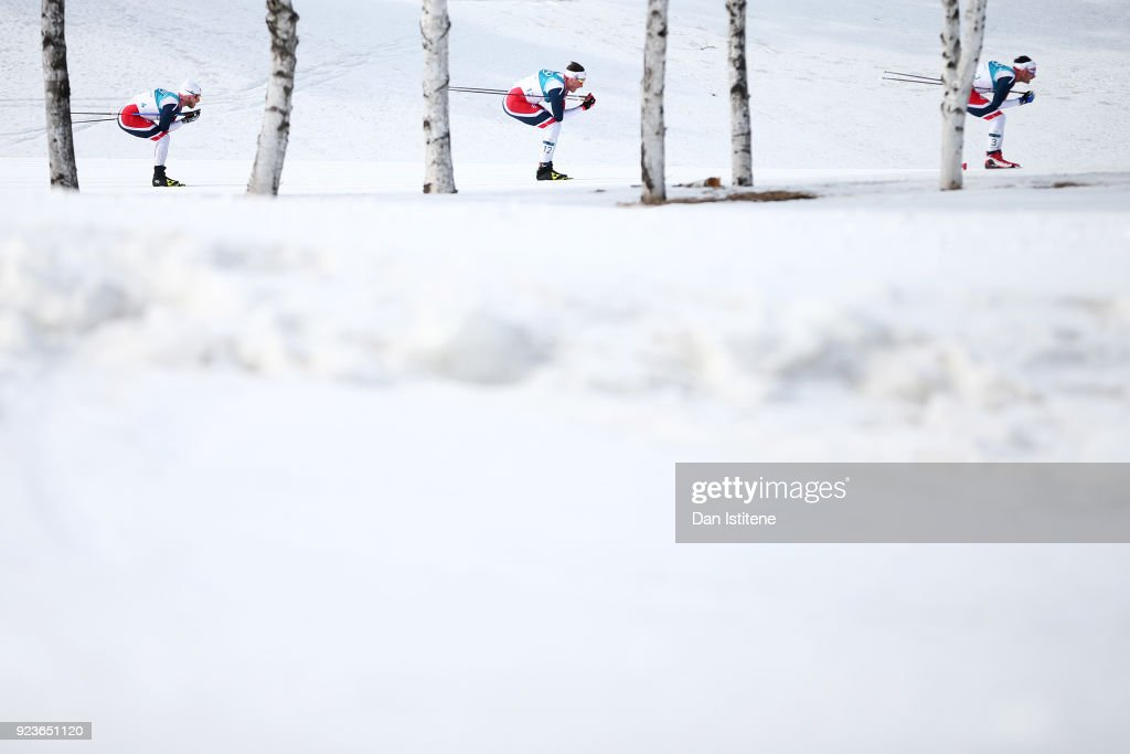 KOR: Cross-Country Skiing - Winter Olympics Day 15