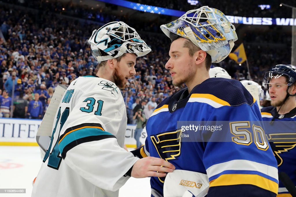 San Jose Sharks v St Louis Blues - Game Six : Nachrichtenfoto