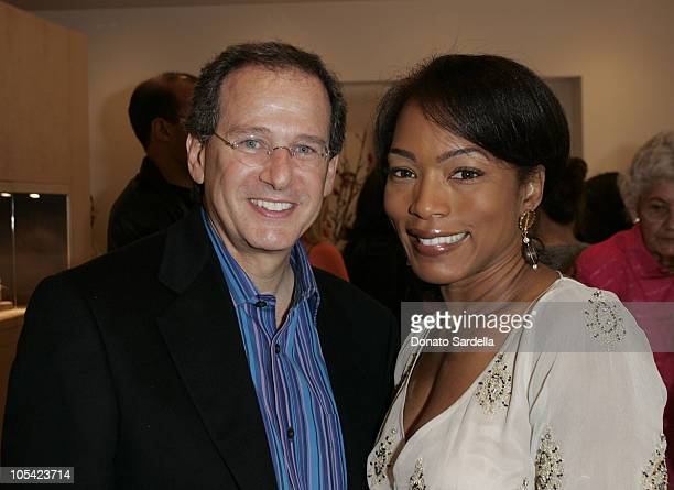 """Martin Katz and Angela Basset during Kelly and Martin Katz Join Irena and Mike Medavoy to Celebrate the Launch of Cheryl Saban's Newest Book """"Recipe..."""