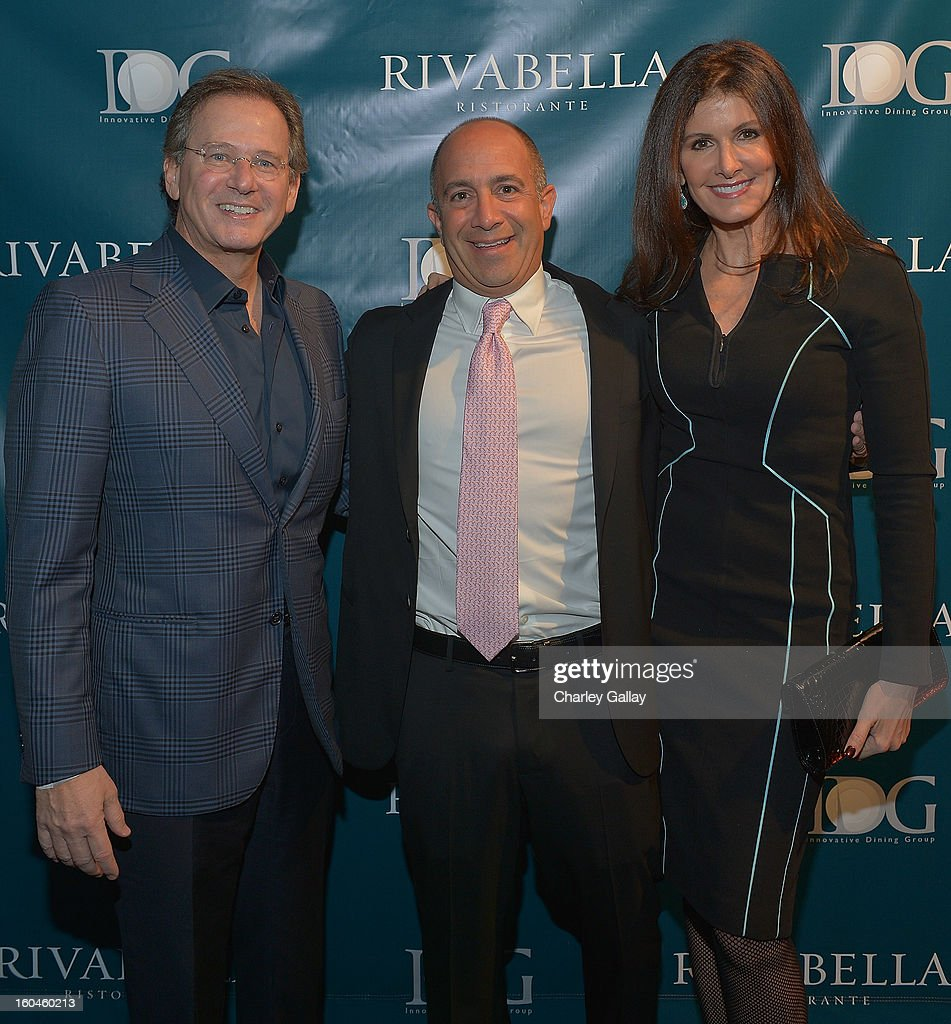 Martin Katz (L) and partner of Innovative Dining Group Phillip Cummins attends the Grand Opening of RivaBella Ristorante on January 31, 2013 in West Hollywood, California.