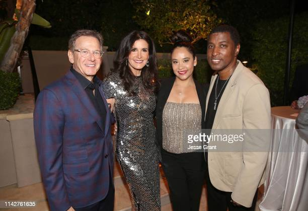 Martin Katz Kelly Fisher Katz Nicole Pantenburg and Kenny Babyface Edmonds attend a private dinner for The Kennedy Center's National Committee For...