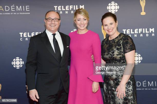 Martin Katz The Honourable Melanie Joly and Beth Janson attend 2017 Canadian Screen Awardsat Sony Centre For Performing Arts on March 12 2017 in...