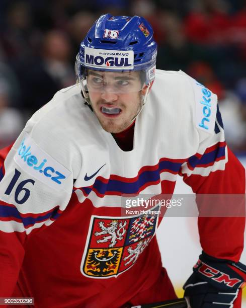Martin Kaut of Czech Republic against the United States during the Bronze Medal Game of the IIHF World Junior Championship at KeyBank Center on...