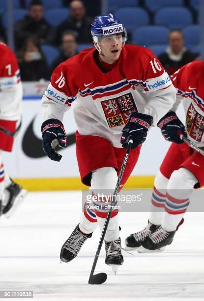 Martin Kaut of Czech Republic during the IIHF World Junior Championship against Switzerland at KeyBank Center on December 31 2017 in Buffalo New York
