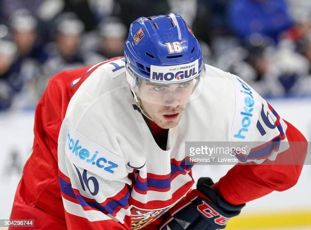 Martin Kaut of Czech Republic during the third period of play against Finland in the IIHF World Junior Championships Quarterfinal game at the KeyBank...