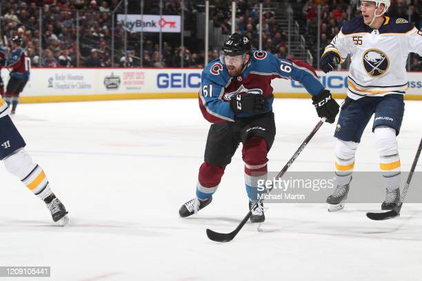 Martin Kaut of the Colorado Avalanche skates against the Buffalo Sabres at Pepsi Center on February 26 2020 in Denver Colorado