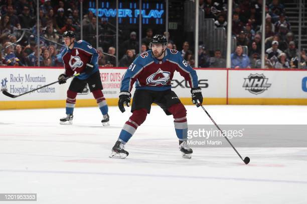Martin Kaut of the Colorado Avalanche skates during his first NHL game against the New York Islanders at Pepsi Center on February 19 2020 in Denver...