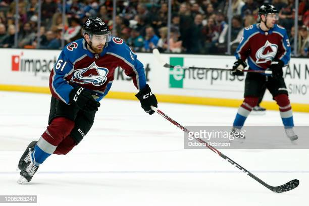 Martin Kaut of the Colorado Avalanche skates during the game against the Anaheim Ducks at Honda Center on February 21 2020 in Anaheim California