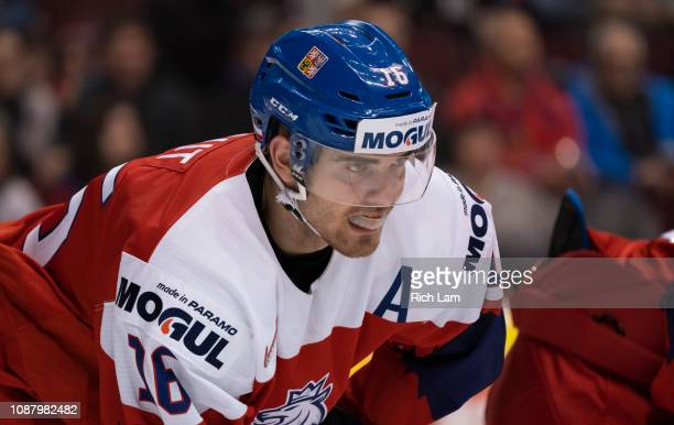 Martin Kaut of the Czech Republic in Group A hockey action of the 2019 IIHF World Junior Championship action against Russia on December 2018 at...