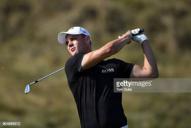 Martin Kaymer in action during The Abu Dhabi Invitational at Yas Links Golf Course on January 13 2018 in Abu Dhabi United Arab Emirates