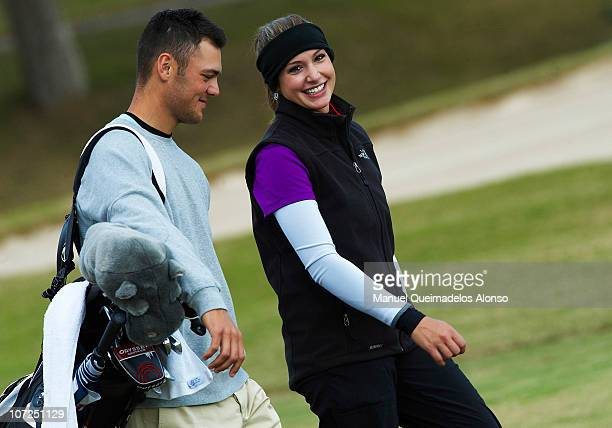 Martin Kaymer of Germany and his girlfriend Allison Micheletti during the Ladies European Tour PreQualifying School Final Round at La Manga Club on...