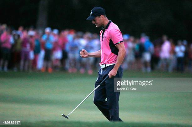 Martin Kaymer of Germany celebrates on the 18th green after his onestroke victory at THE PLAYERS Championship on The Stadium Course at TPC Sawgrass...