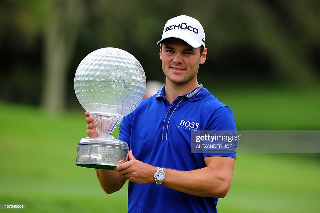 Martin Kaymer of Germany celebrates winning the 2012 Nedbank Golf Challenge in Sun City on December 2 ,2012