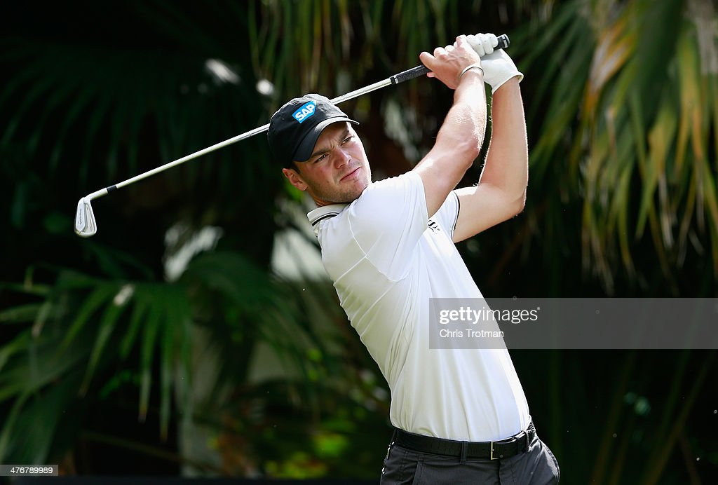Martin Kaymer of Germany hits a shot during a practice round prior to the start of the World Golf Championships-Cadillac Championship at Trump National Doral on March 5, 2014 in Doral, Florida.