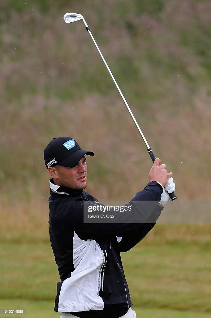 Martin Kaymer of Germany hits an approach on the 1st hole during a pro-am round ahead of the AAM Scottish Open at Castle Stuart Golf Links on July 6, 2016 in Inverness, Scotland.