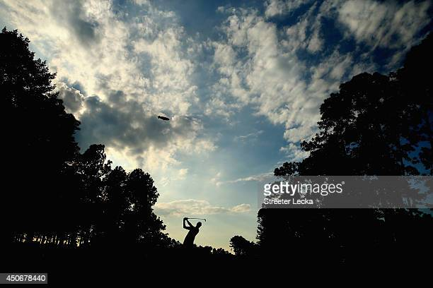 Martin Kaymer of Germany hits his tee shot on the 15th hole during the final round of the 114th U.S. Open at Pinehurst Resort & Country Club, Course...