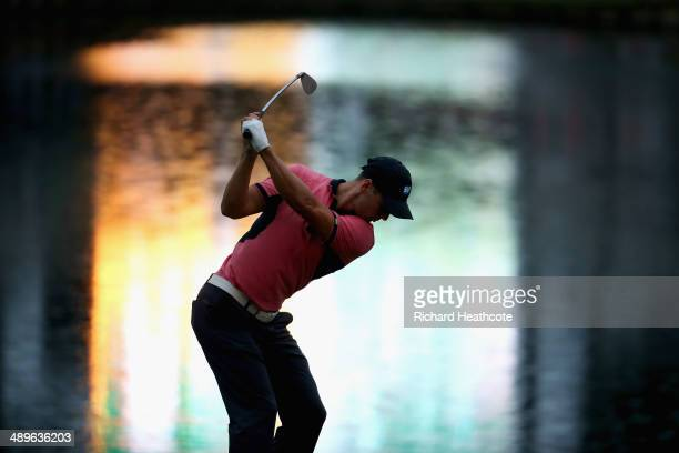 Martin Kaymer of Germany hits his tee shot on the 17th hole during the final round of THE PLAYERS Championship on The Stadium Course at TPC Sawgrass...