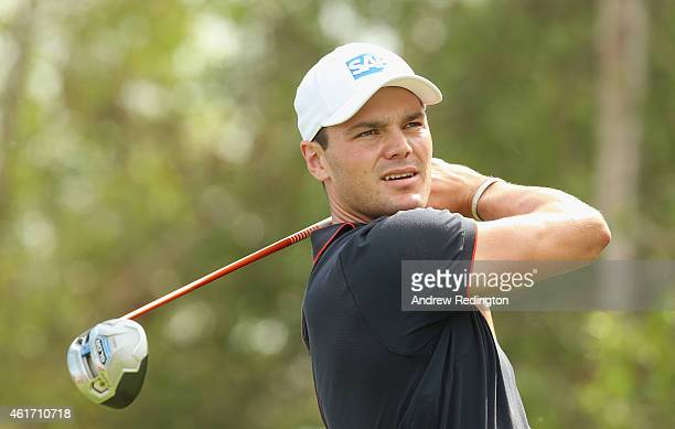 Martin Kaymer of Germany hits his teeshot on the fifth hole during the final round of the Abu Dhabi HSBC Golf Championship at the Abu Dhabi Golf Cub...