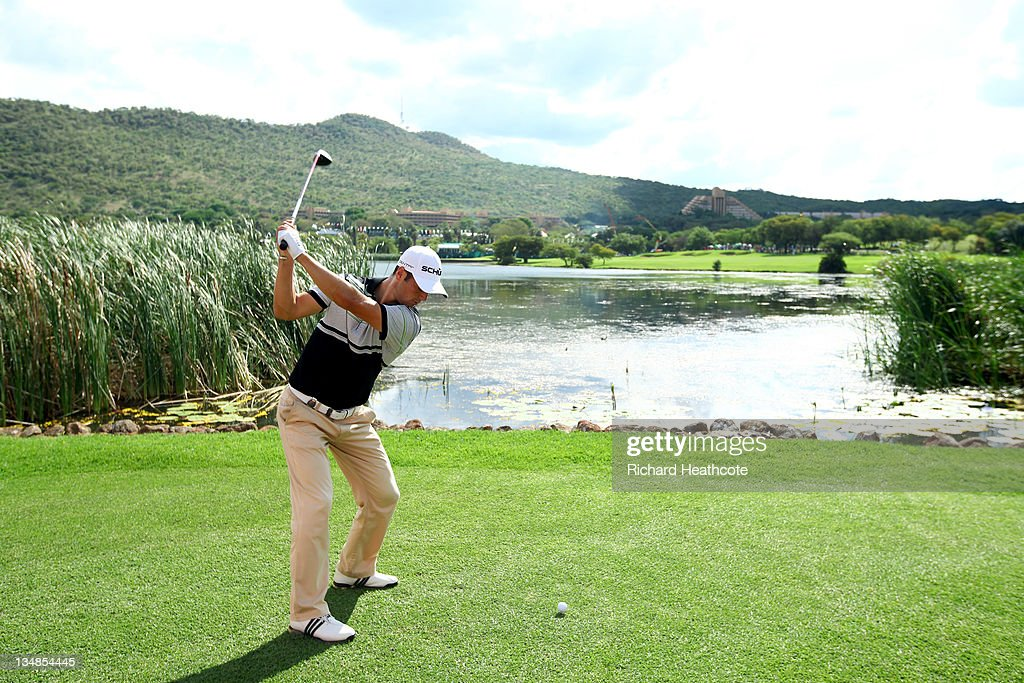Martin Kaymer of Germany in action during the final round of the Nedbank Golf Challenge at the Gary Player Country Club on December 4, 2011 in Sun City, South Africa.