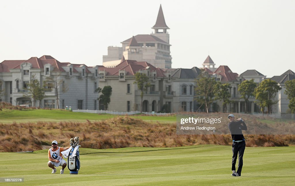 Martin Kaymer of Germany in action during the first round of the BMW Masters at Lake Malaren Golf Club on October 24, 2013 in Shanghai, China.