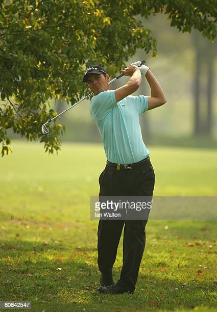 Martin Kaymer of Germany in action during the first round of the BMW Asian Open at the Tomson Shanghai Pudong Golf Club on April 24, 2008 in...