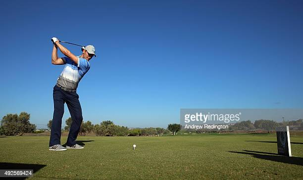 Martin Kaymer of Germany in action during the Pro Am event prior to the start of the Portugal Masters at Oceanico Victoria Golf Club on October 14...