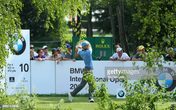 Martin Kaymer of Germany in action during the proam event ahead of the BMW International Open at Golfclub Munchen Eichenried on June 21 2017 in...