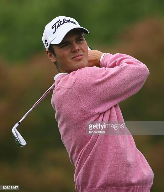 Martin Kaymer of Germany in action during the Pro-Am round of the BMW Asian Open at the Tomson Shanghai Pudong Golf Club on April 23, 2008 in...