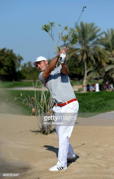 Martin Kaymer of Germany in the par five 10th hole during the second round of the Abu Dhabi HSBC Golf Championship at the Abu Dhabi Golf Club on...