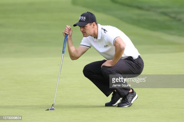 Martin Kaymer of Germany lines up a putt on the eighth green during the first round of the 120th U.S. Open Championship on September 17, 2020 at...
