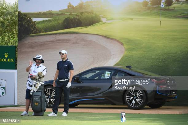 Martin Kaymer of Germany looks down the 17th hole during the second round of the DP World Tour Championship at Jumeirah Golf Estates on November 17...