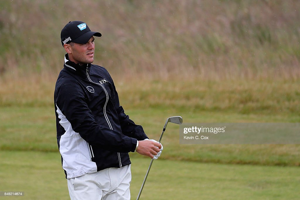 Martin Kaymer of Germany looks down the 1st hole during a pro-am round ahead of the AAM Scottish Open at Castle Stuart Golf Links on July 6, 2016 in Inverness, Scotland.