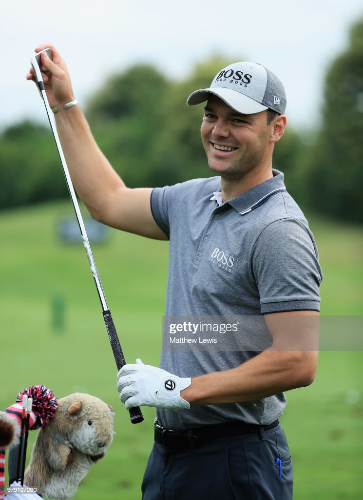 Martin Kaymer of Germany looks on during a practice round ahead of the BMW International Open at Golf Club Gut Larchenhof on June 20, 2018 in Cologne, Germany.