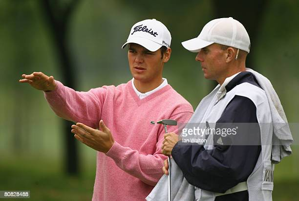 Martin Kaymer of Germany looks on during the Pro-Am round of the BMW Asian Open at the Tomson Shanghai Pudong Golf Club on April 23, 2008 in...