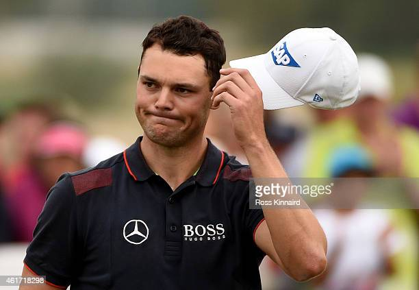 Martin Kaymer of Germany on the 18th green during the final round of the Abu Dhabi HSBC Golf Championship at the Abu Dhabi Golf Club on January 18...