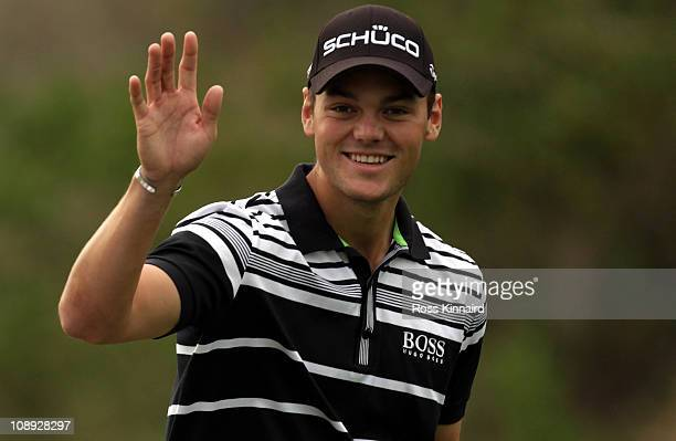 Martin Kaymer of Germany pictured during the proam event prior to the Omega Dubai Desert Classic on the Majlis course at the Emirates Golf Club on...